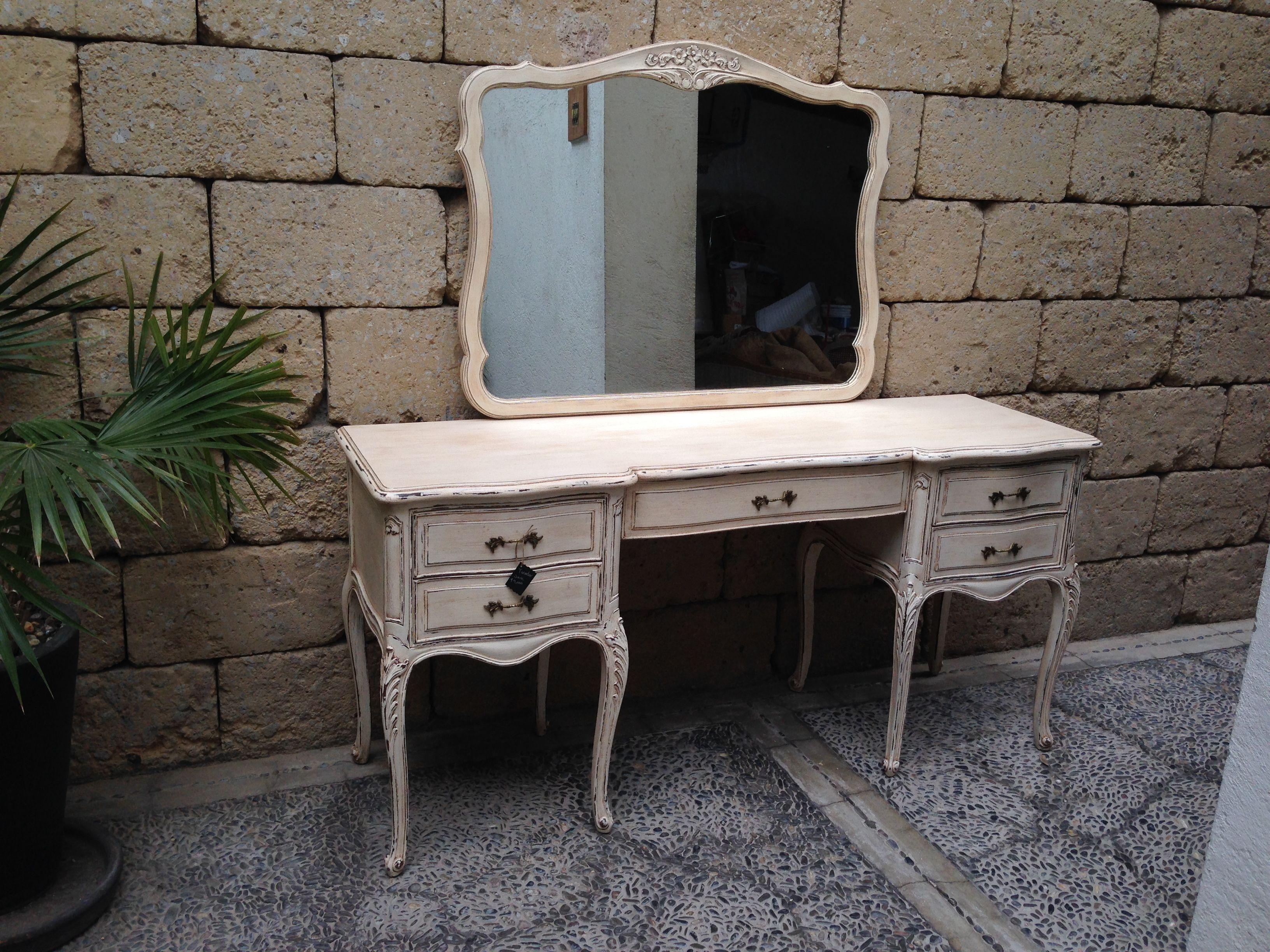 Tocador Sara, de caoba  muebles vintage  muebles shabby  Pinterest