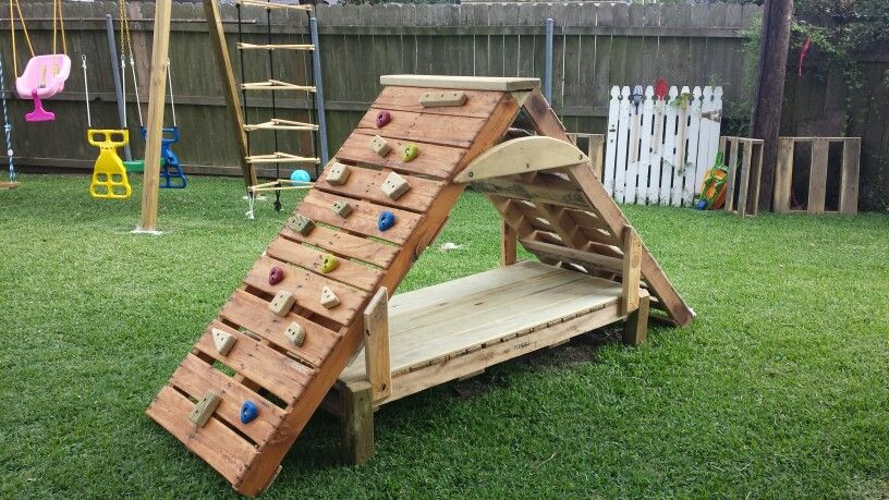 pallet climbing structure kid stuff pinterest