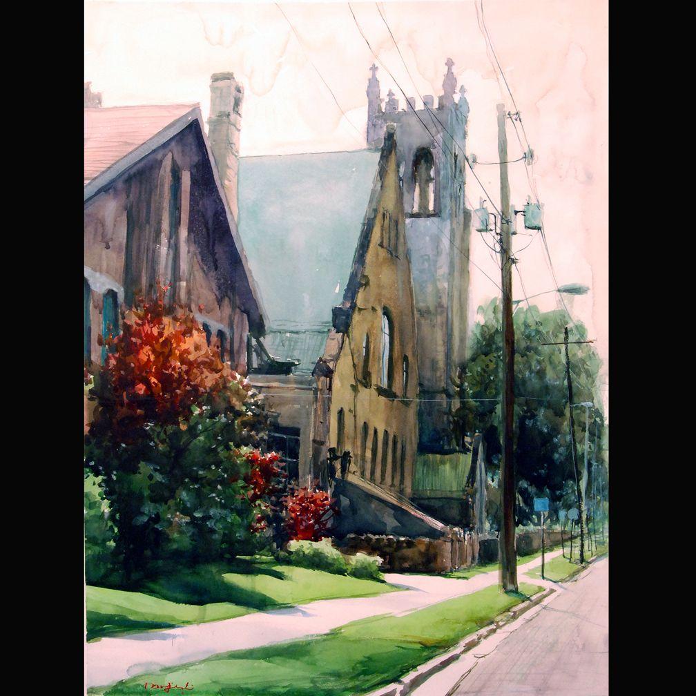 Paintsville Hazy is a watercolor 22 x 30