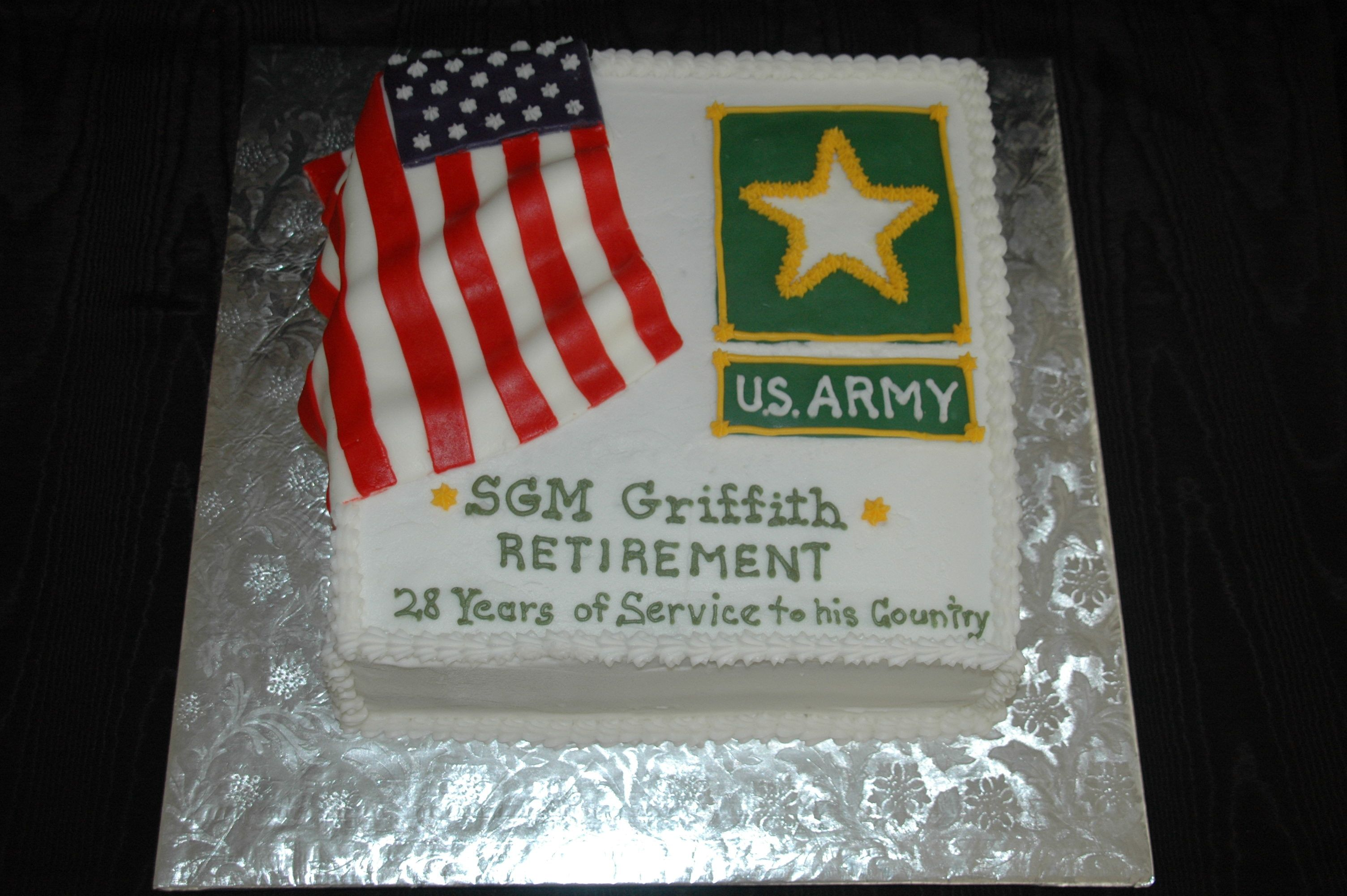 A military retirement cake Party Ideas Pinterest