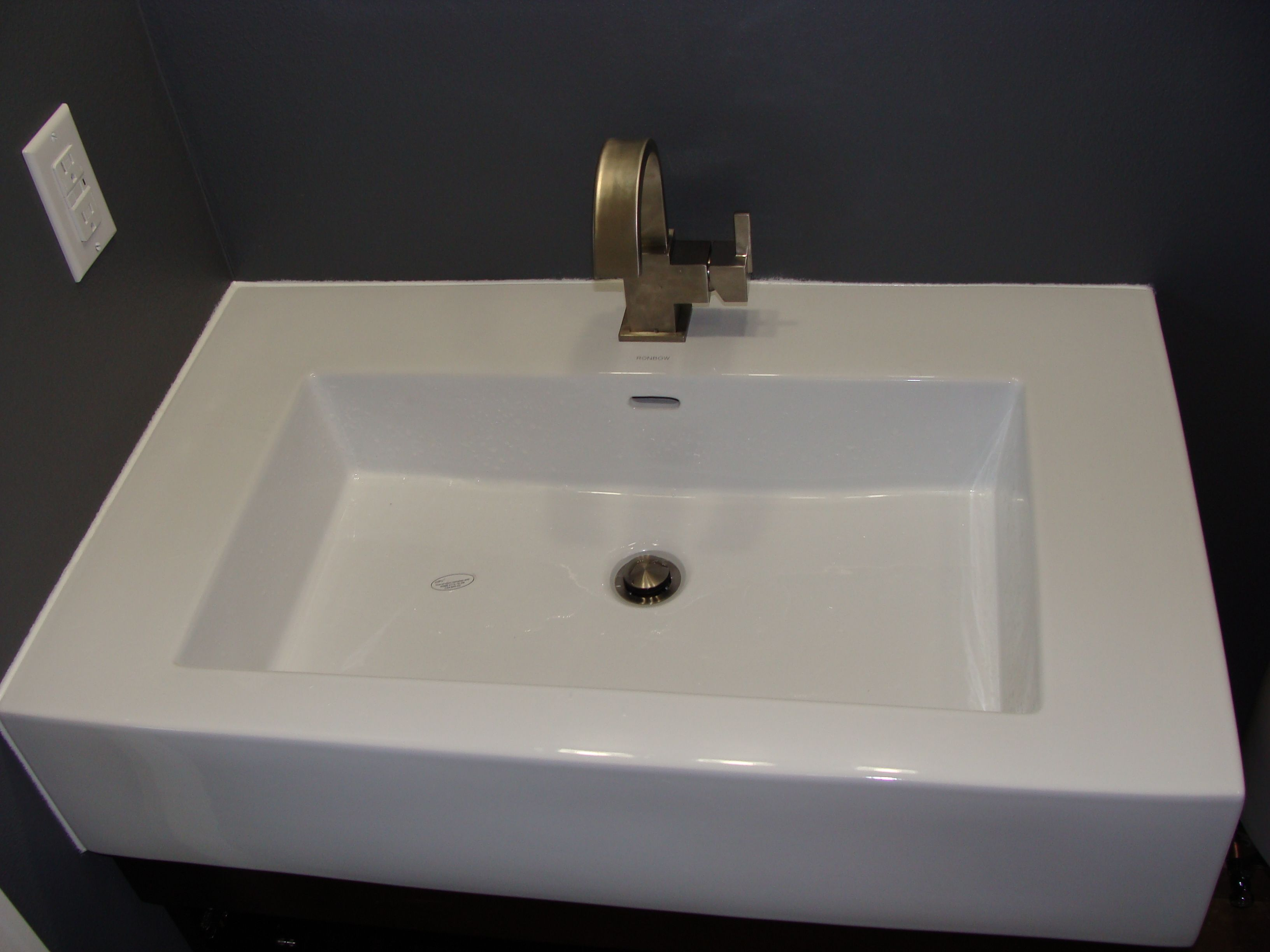 Ronbow Ceramic Sink Top Moen Faucet Bathrooms and kitchens Pinte ...