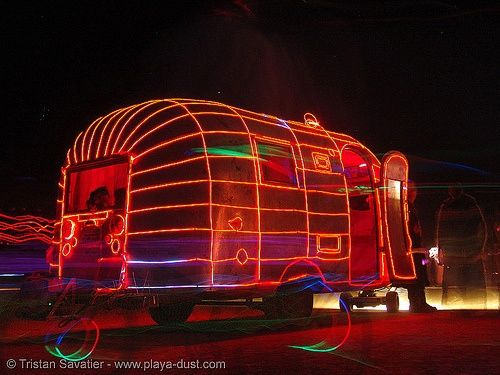 1000 images about el wire decorations and costumes on for Airstream christmas decoration