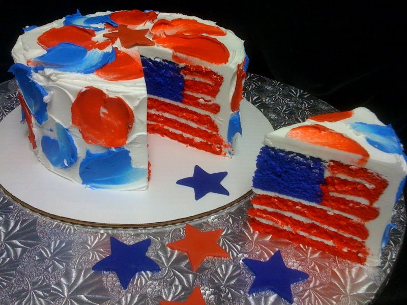 july 4th flag cake recipes