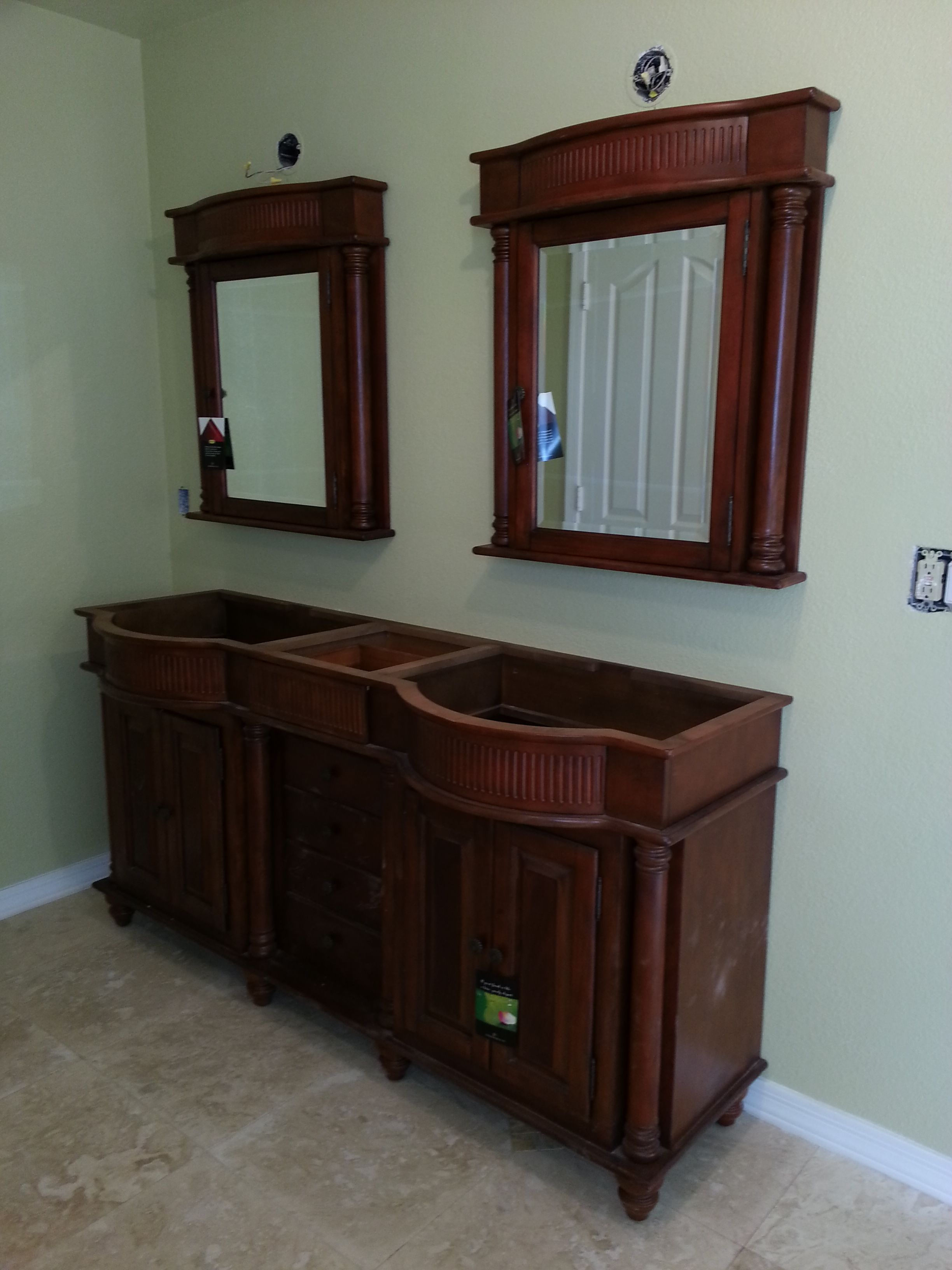 Custom Bathroom Vanity And Mirrors Bathroom Ideas