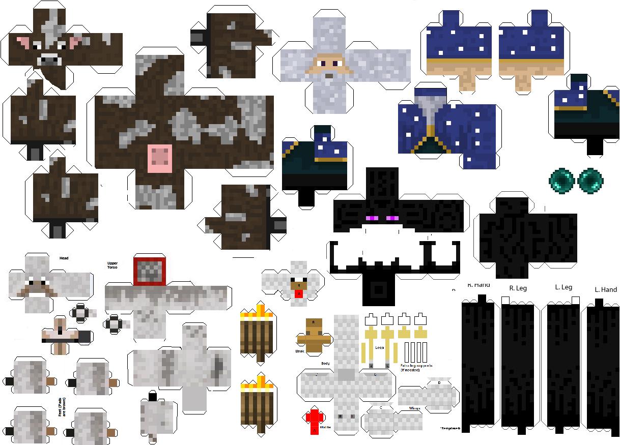 Minecraft из бумаги сделать