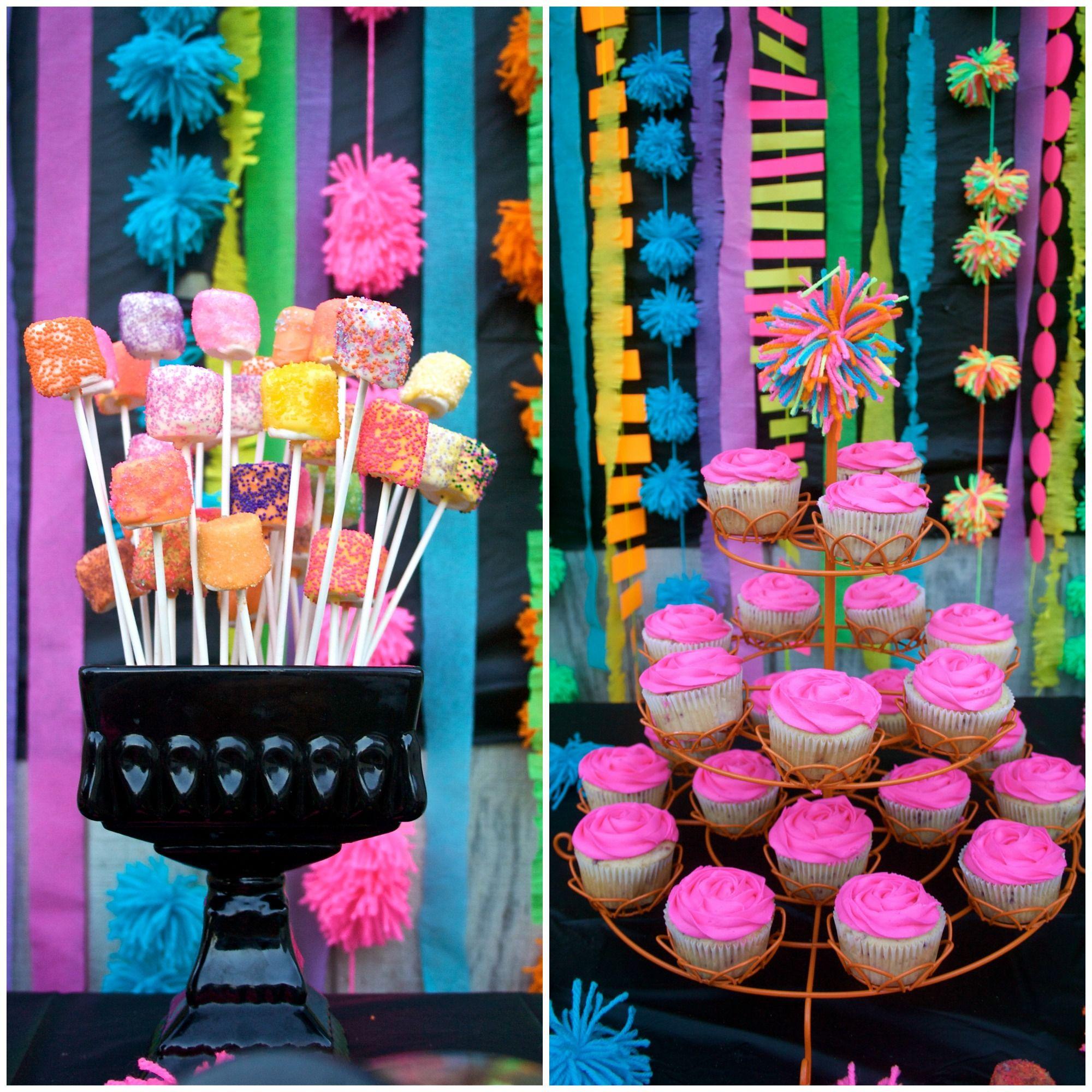 Neon 13th birthday party birthday ideas pinterest