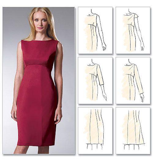 Как сшить платье с высокой талией 85