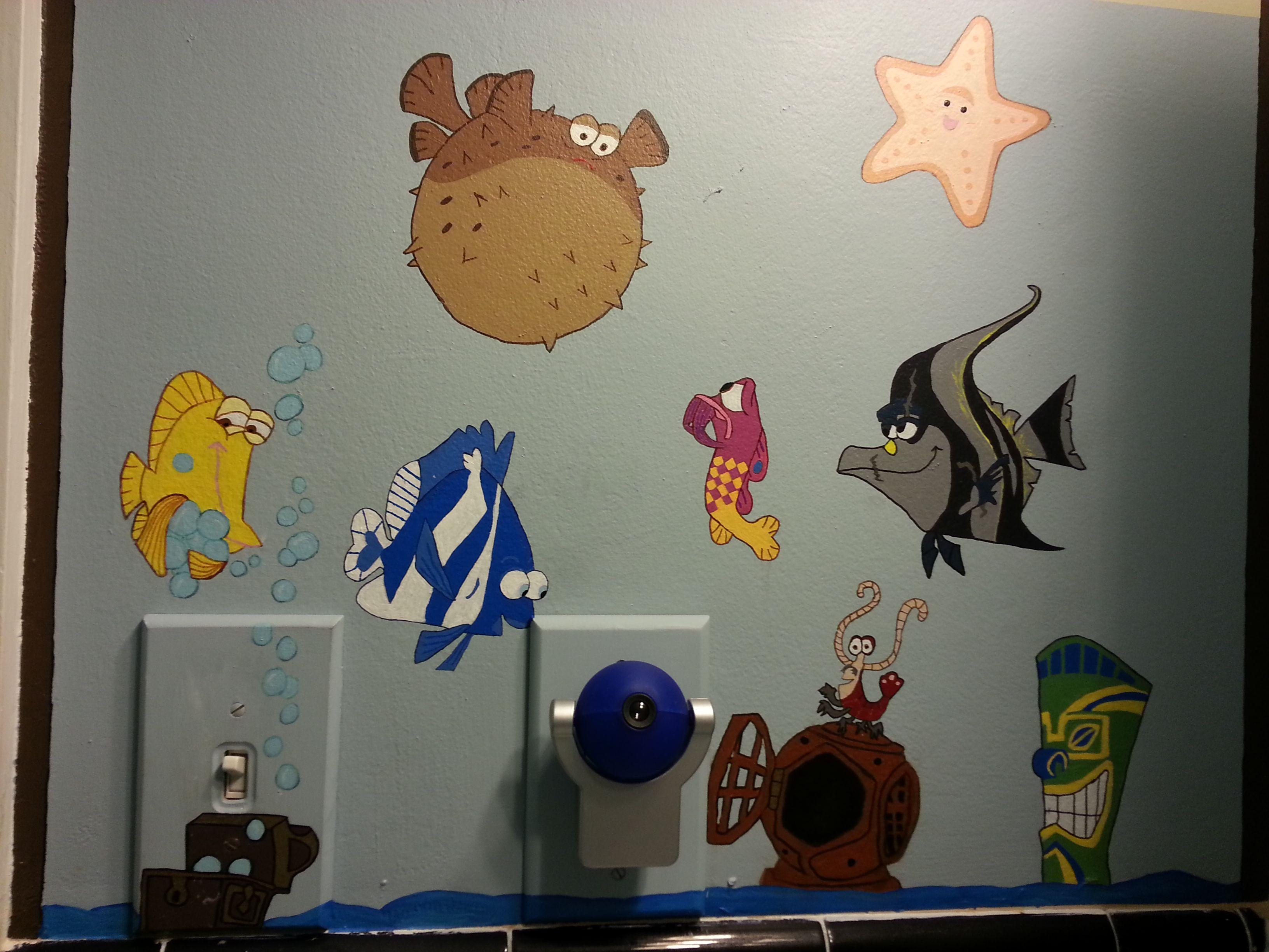 Finding nemo bathroom decor