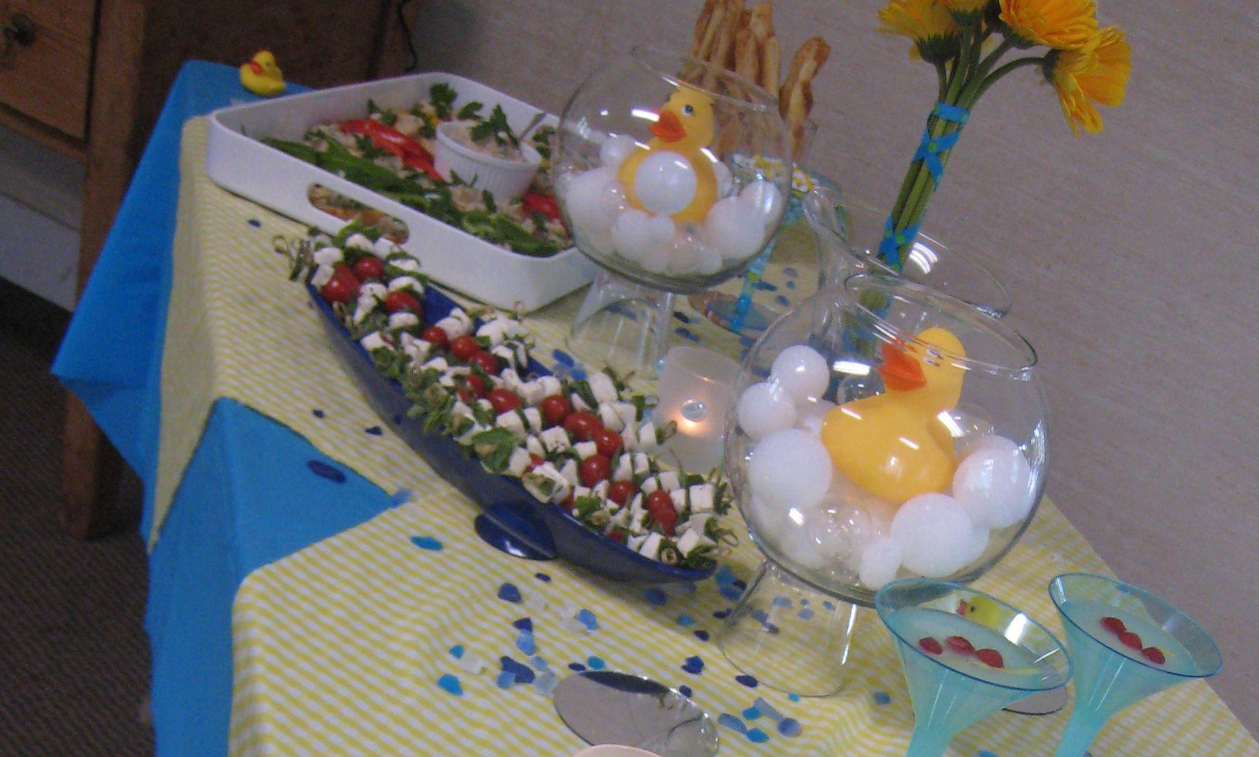 rubber duck themed baby shower baby shower pinterest