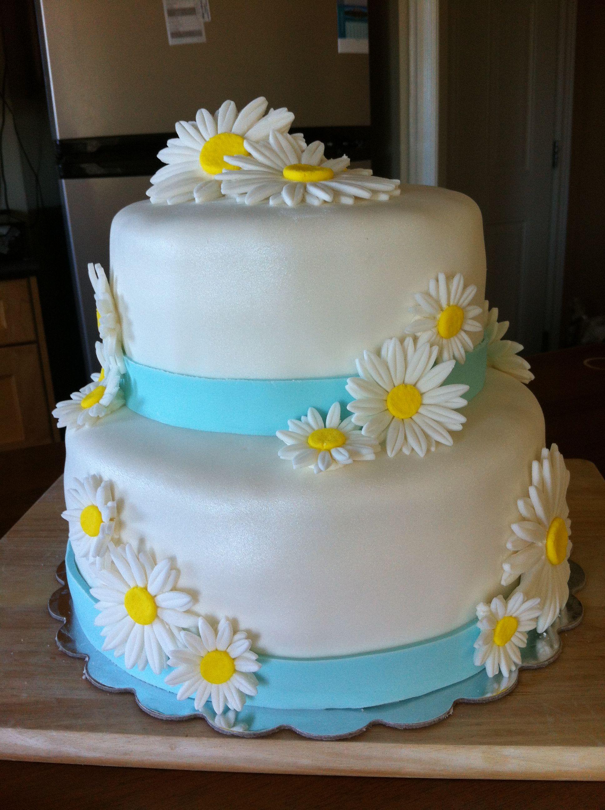Daisy wedding cake Cake Decorating