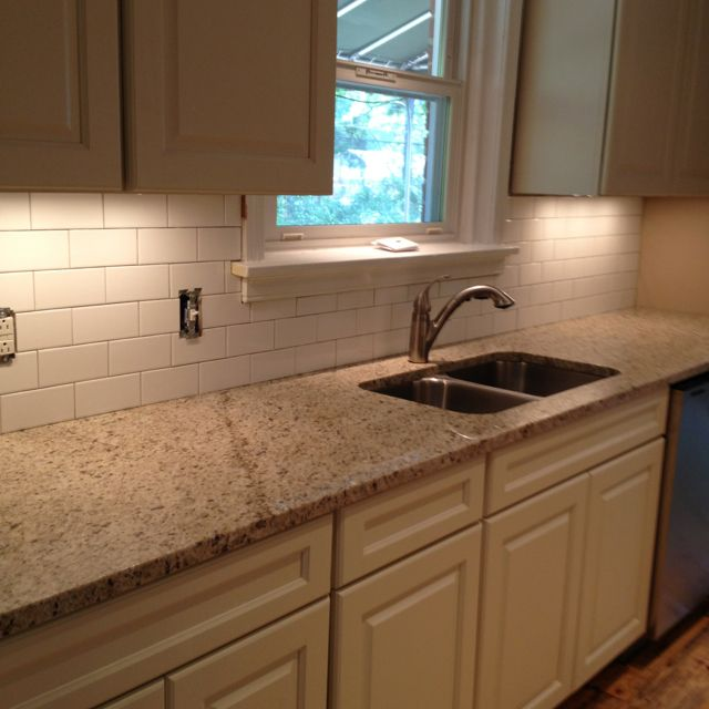 subway tile backsplash pre grout my galley kitchen remodel pinte