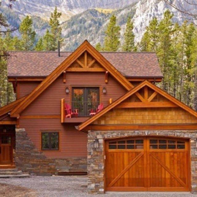 Cabin ideas love the garage doors dream house pinterest for Garage cabin