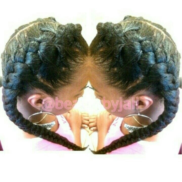 Goddess braids | Cornrow Protective Styles | Pinterest