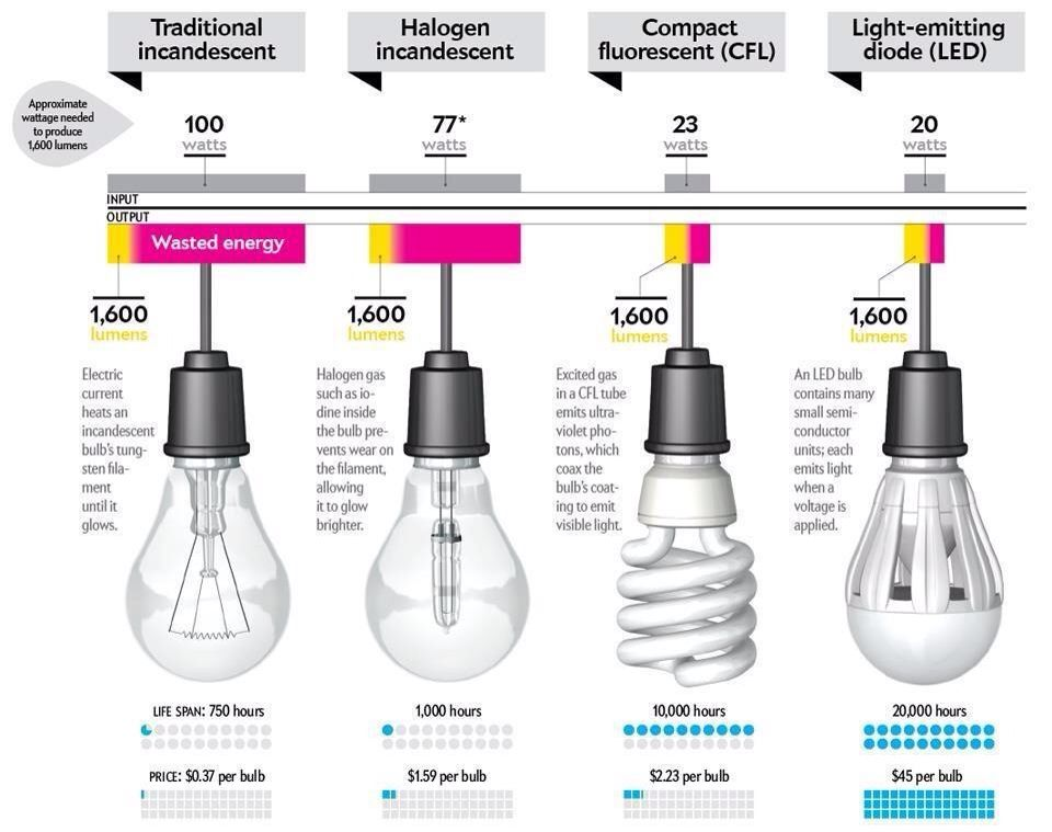 Share Lamp bulb types