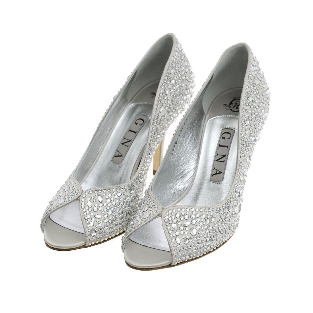 gina bridal shoes sparkly wedding inspiration pinterest