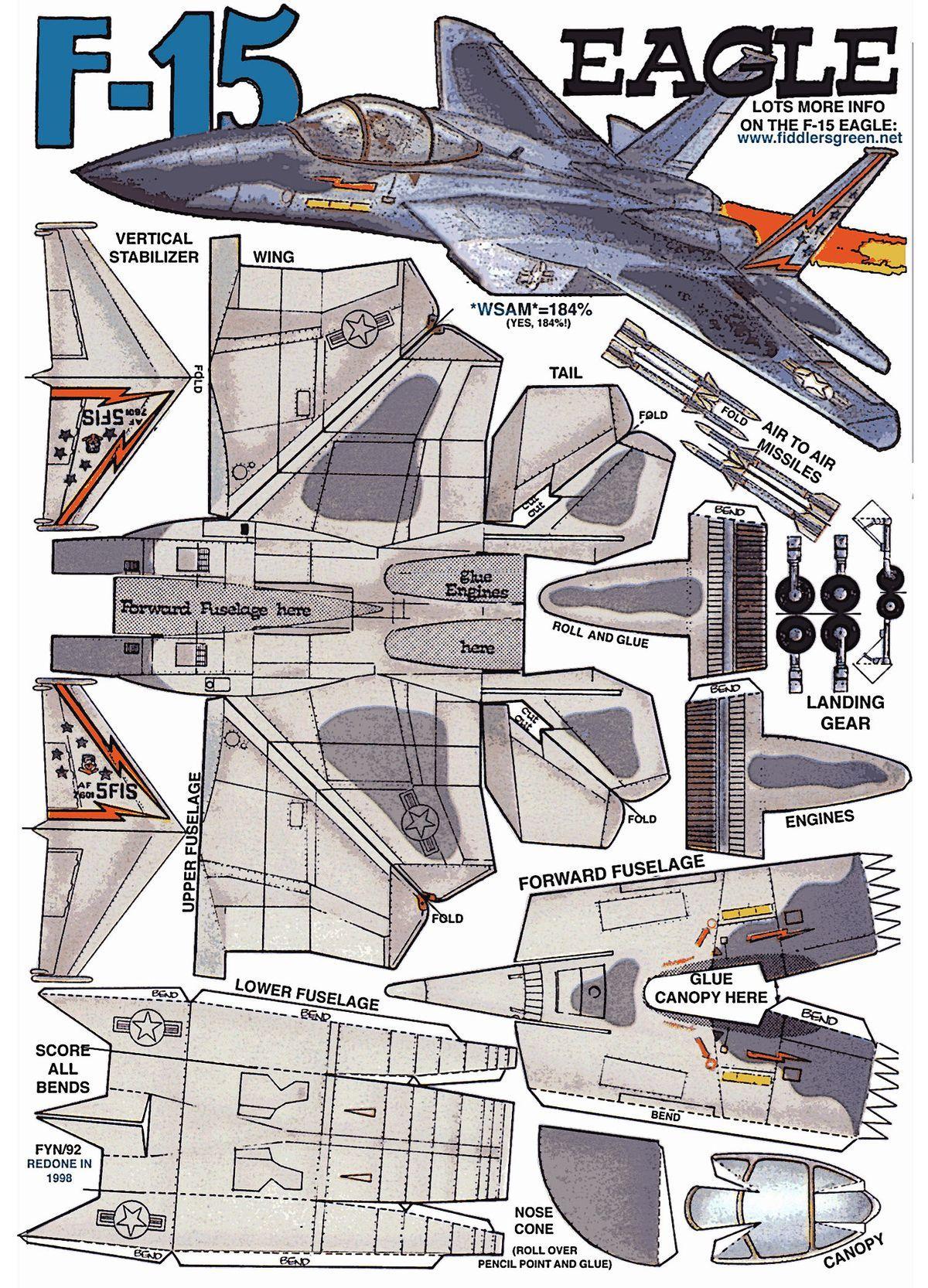 Оригами самолет стелс схема
