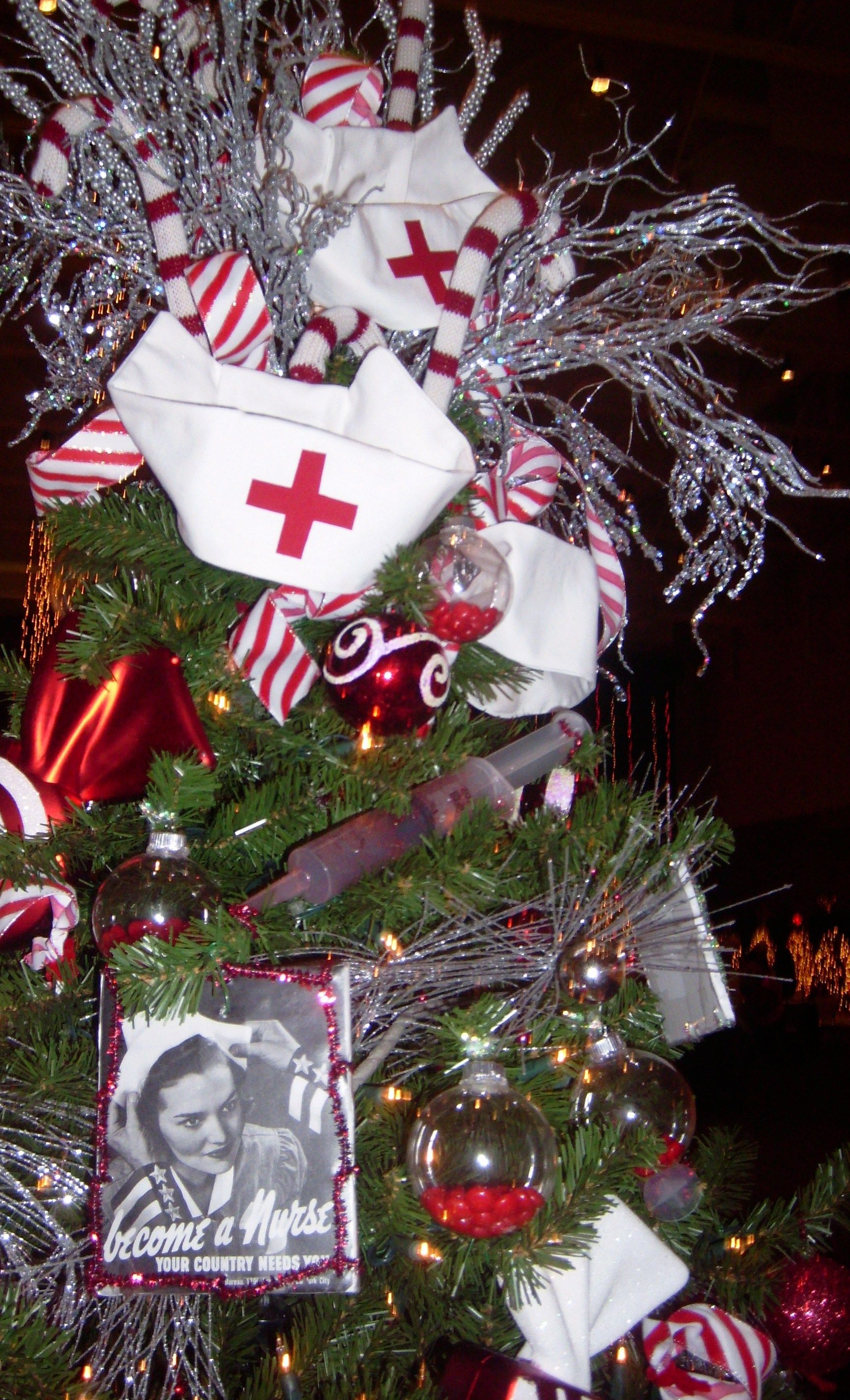 Medical Themed Christmas Ornaments : Nurses christmas tree hey nurse