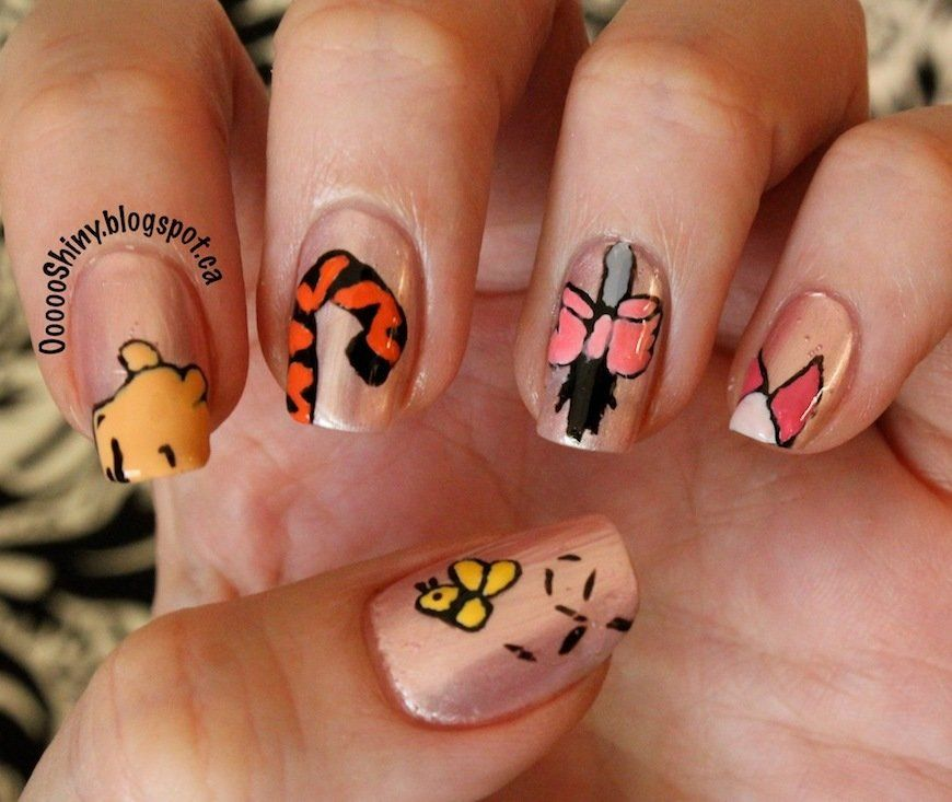 Winnie The Pooh Nails: Nail Art And Painting