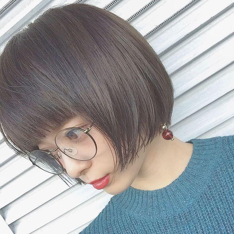 髪型 ボブ 30代 黒髪