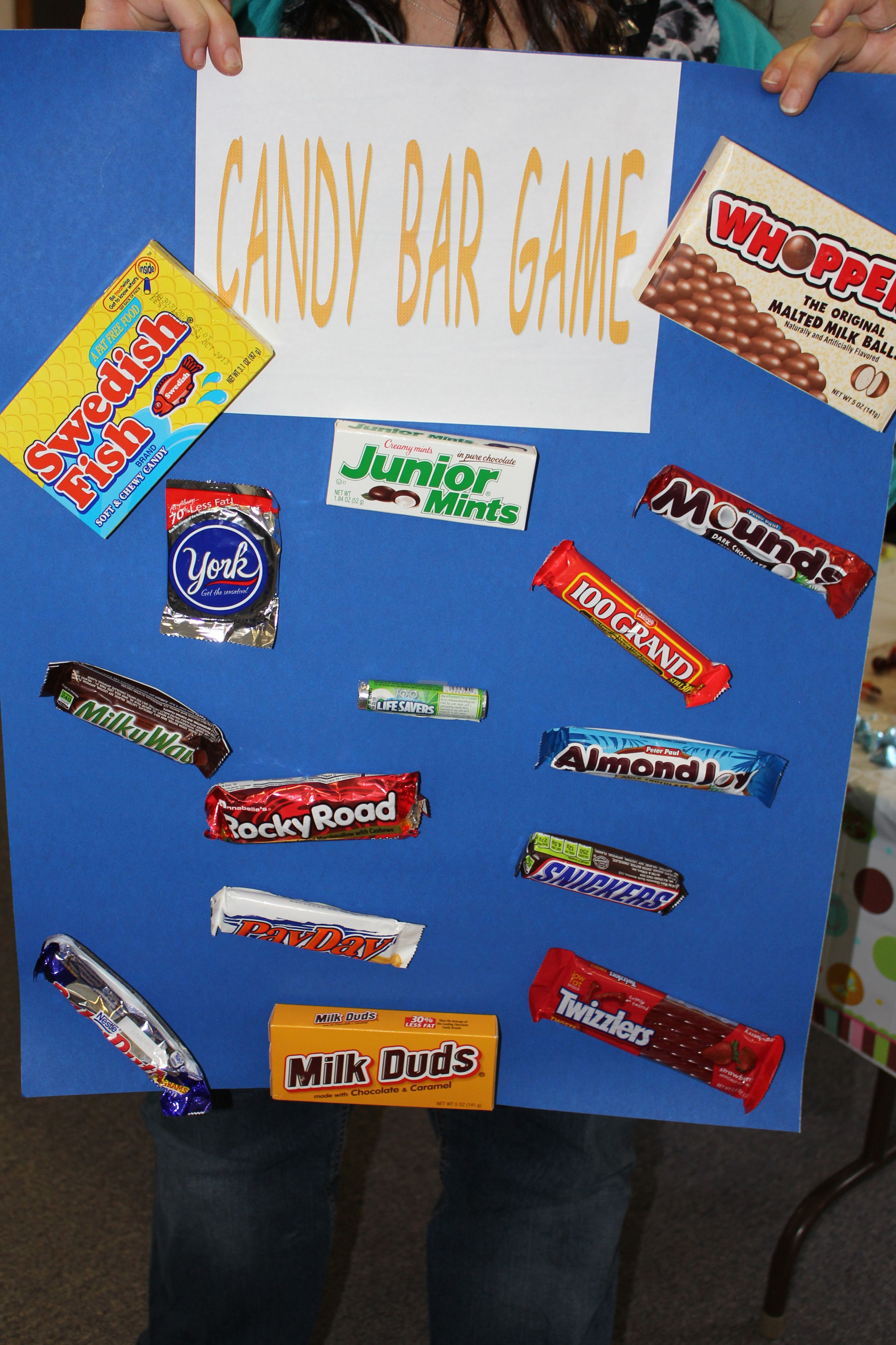 candy bar game baby shower yes pinterest