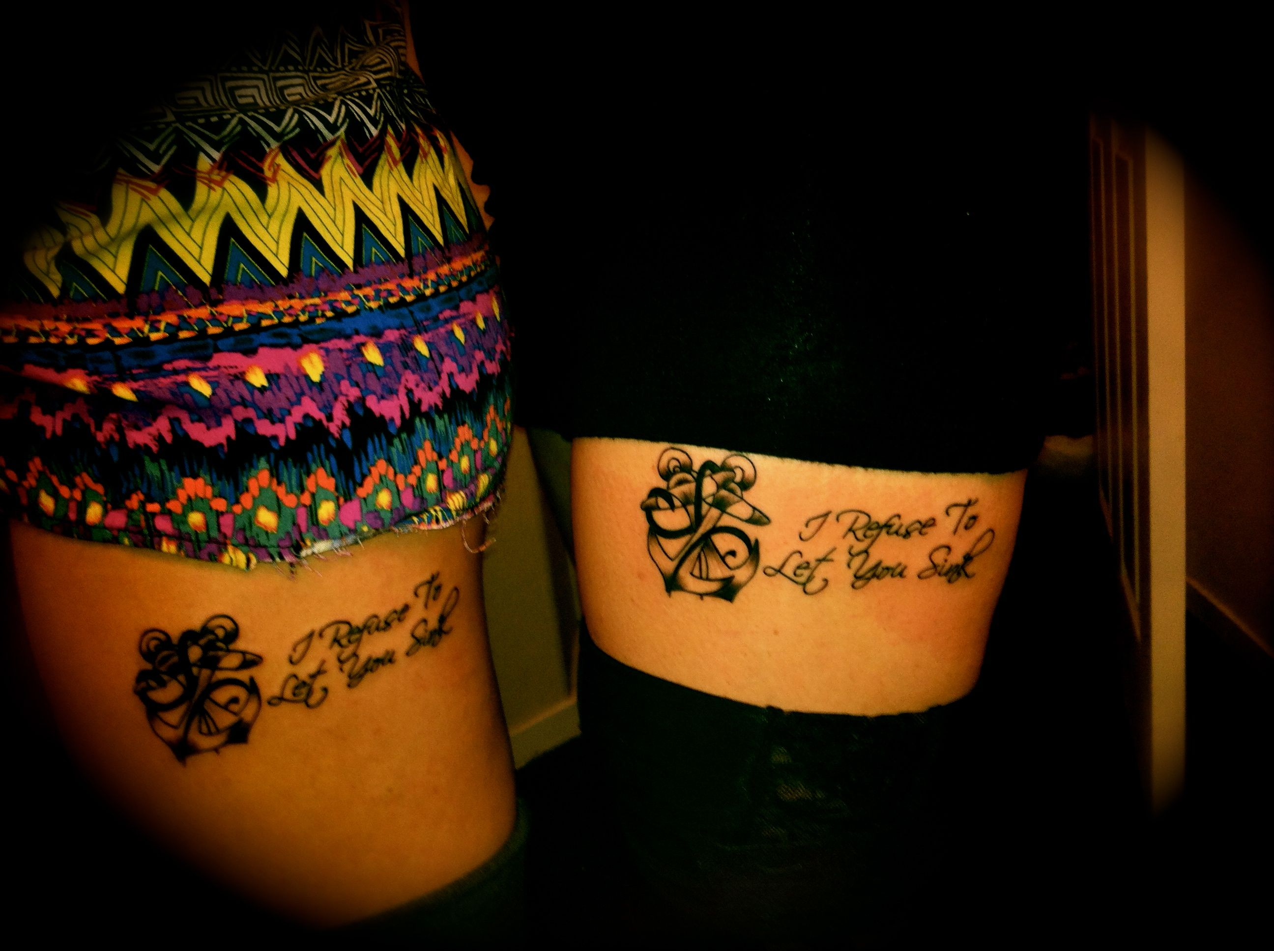 Best Friend Tattoos Two Anchors Interlocked &amp Held Together With