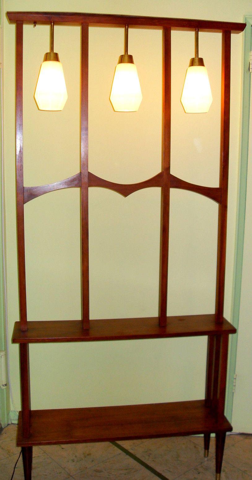 lighted room divider shelf mid century room dividers. Black Bedroom Furniture Sets. Home Design Ideas