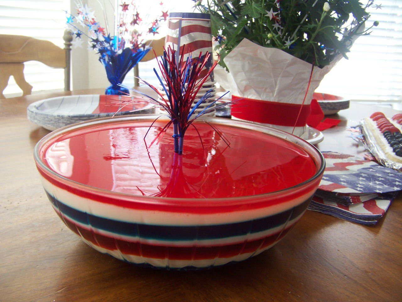 4th of july jello cookies