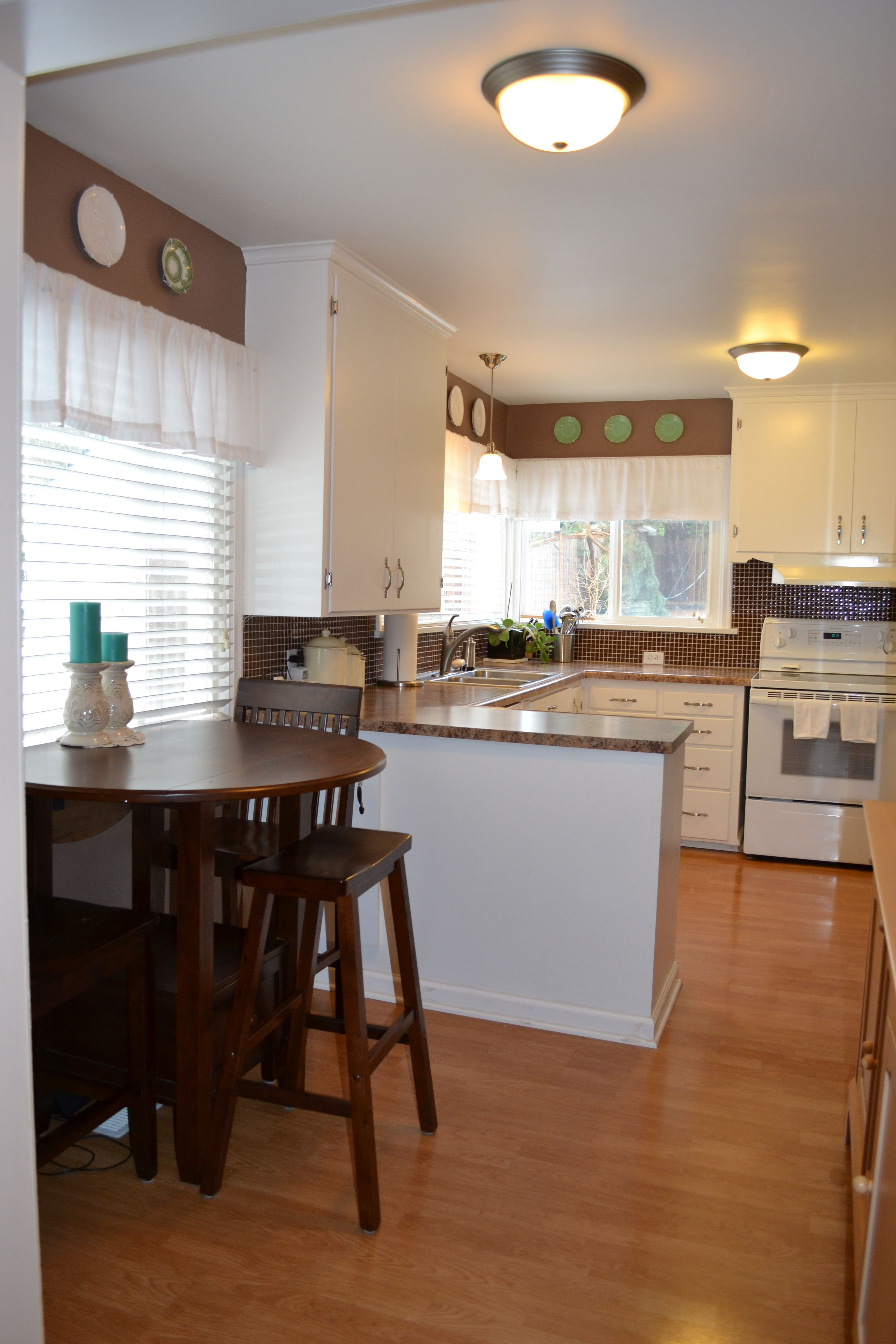 small kitchen with breakfast nook home