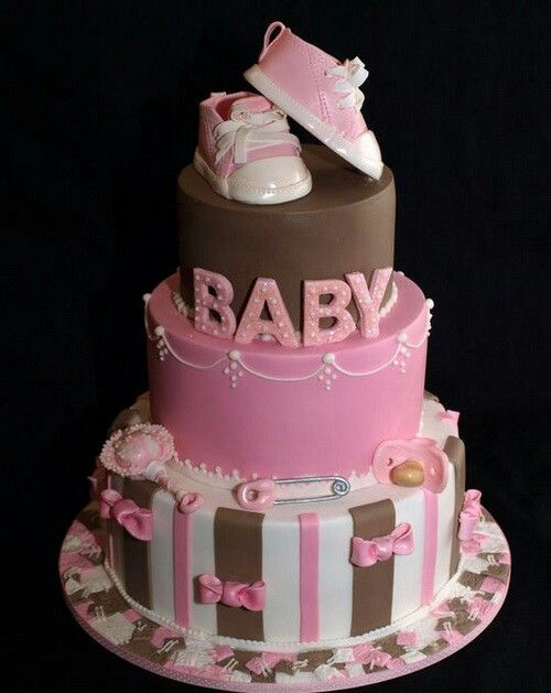 beautiful baby shower cake for girl cakes cupcakes frosting and