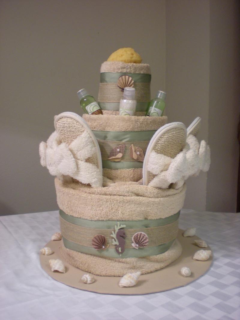 Beach towel cake ideas 70536 spa towel cake wedding ideas for Salon cake design
