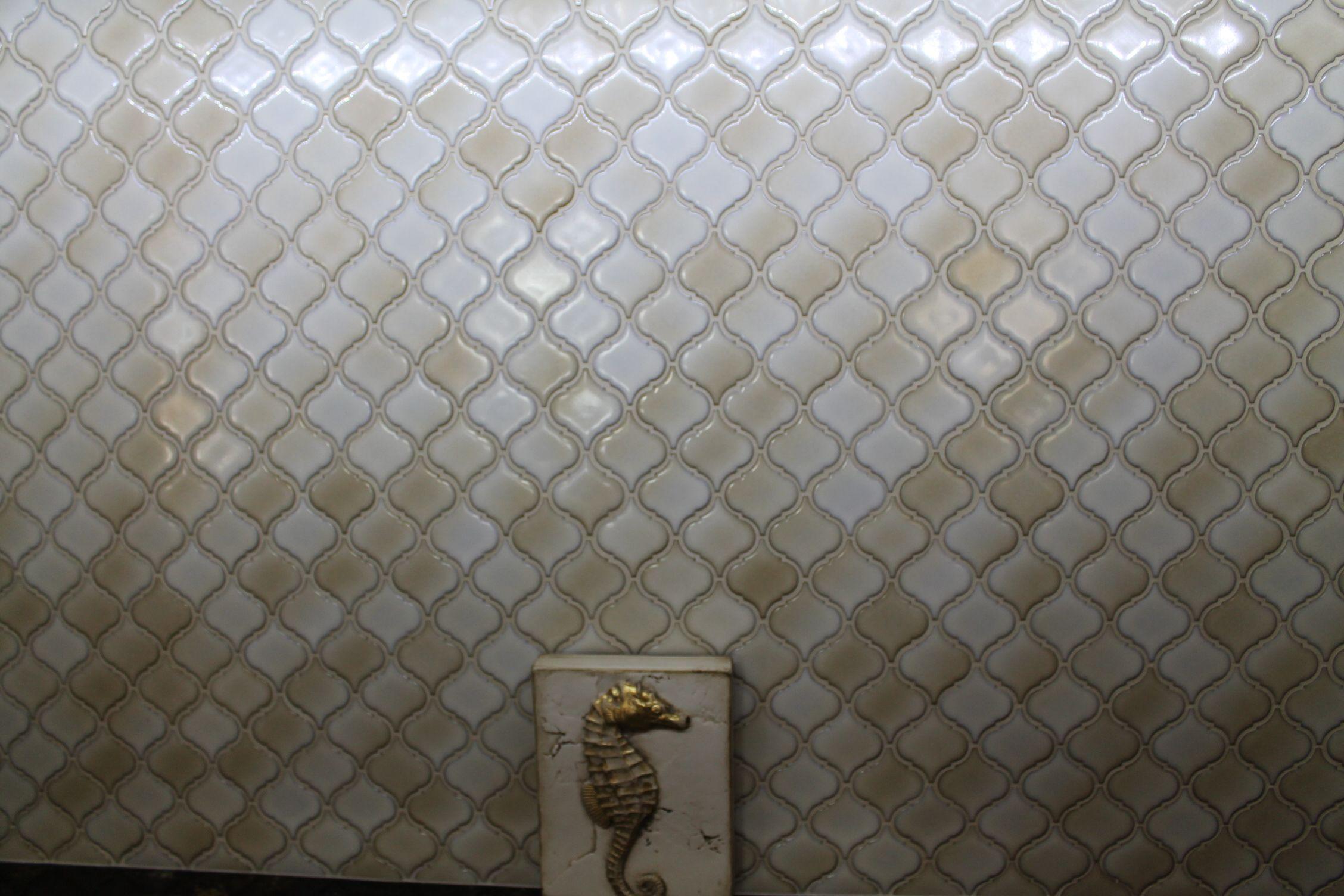 backsplash of lantern ceramic tile jfe kitchen bath desi