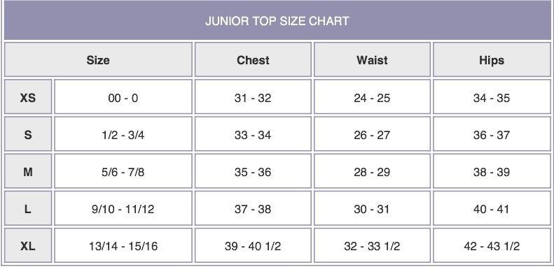Junior size