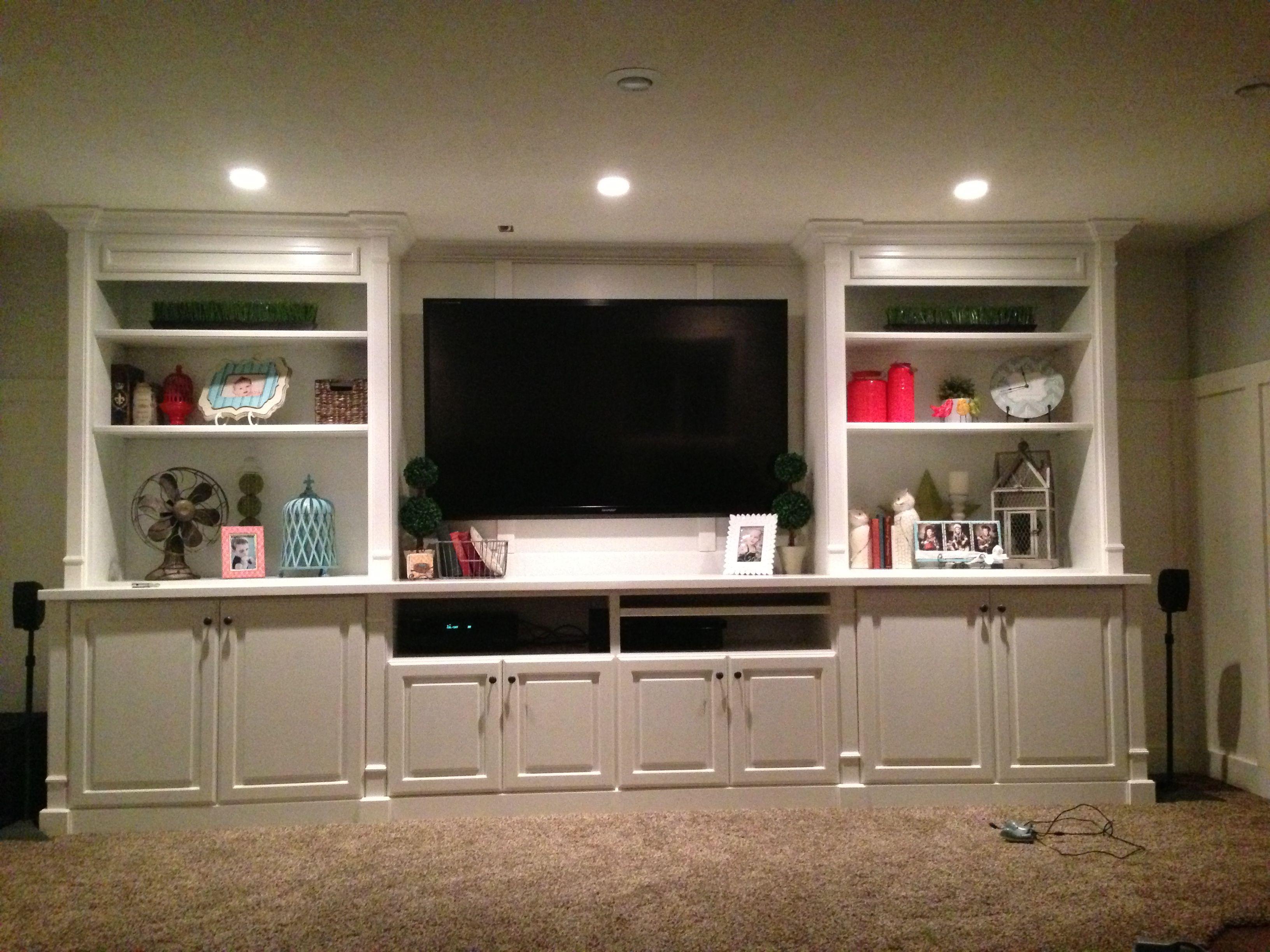 finished basement entertainment center dream home pinterest