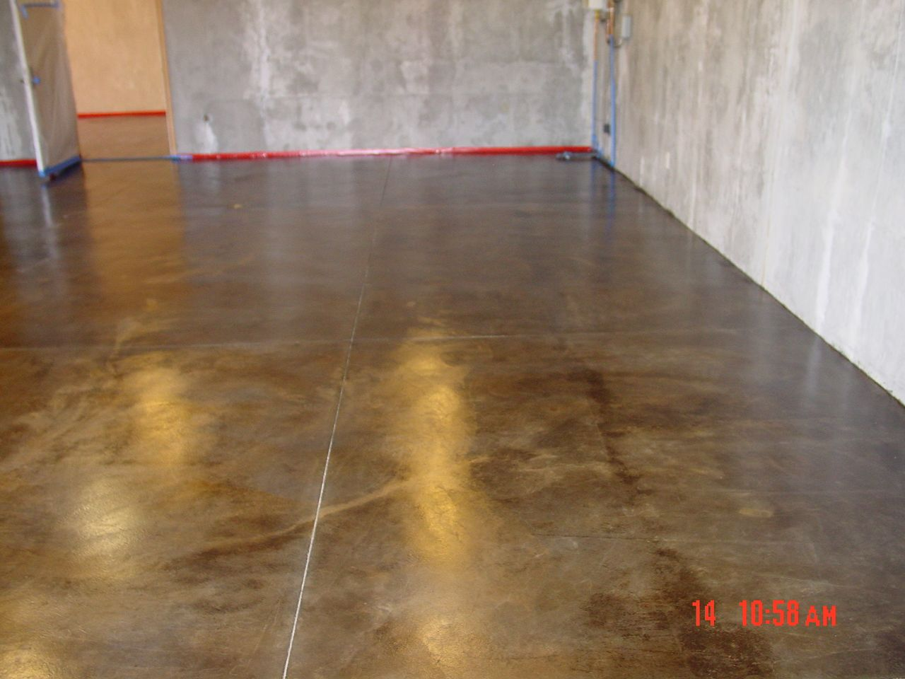 Stained concrete for basement for the home pinterest for Concrete basement floor