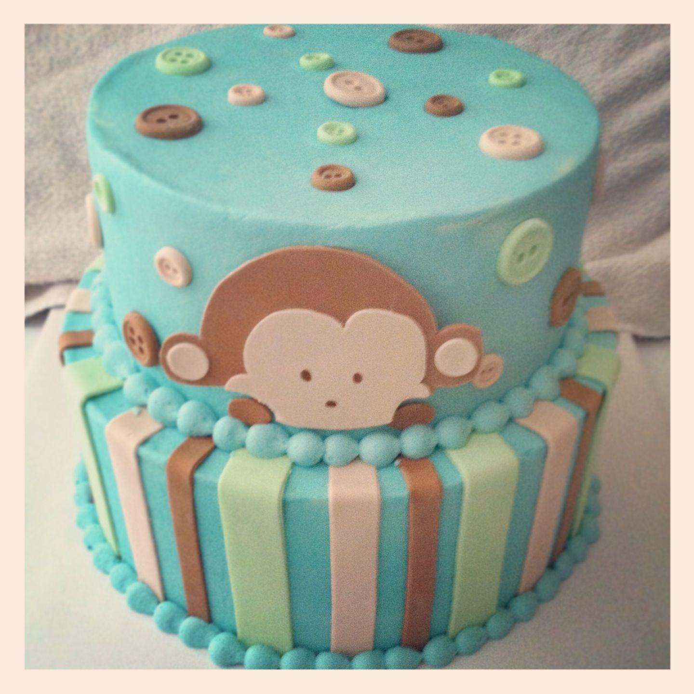 monkey baby shower cake cake decorating pinterest