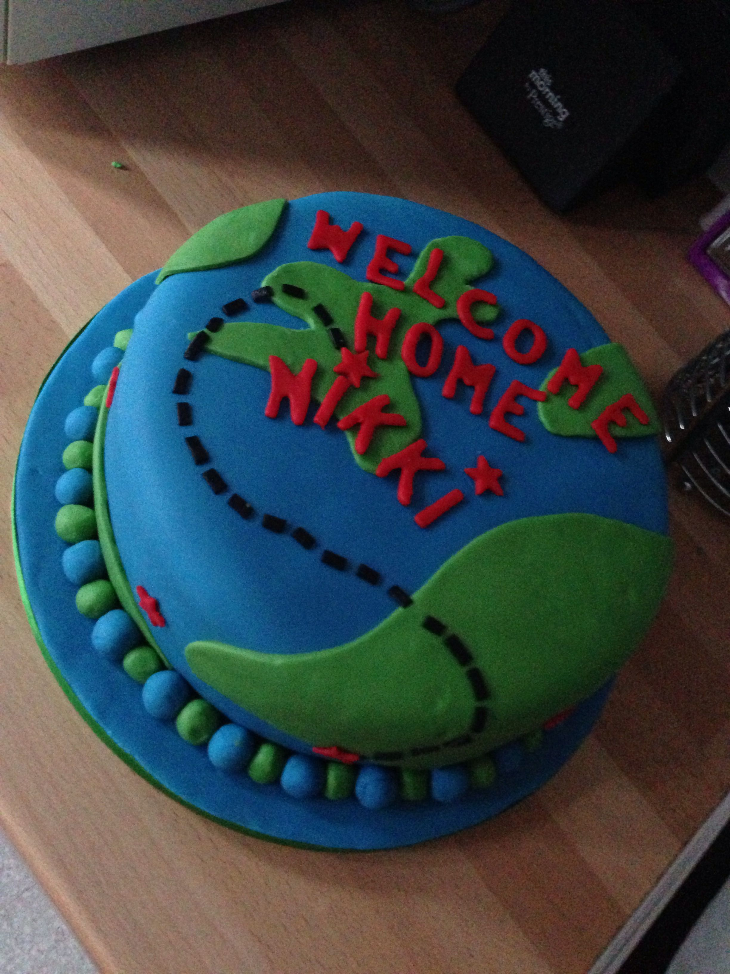 Welcome home cake cake decorating pinterest for Welcome home cake decorations