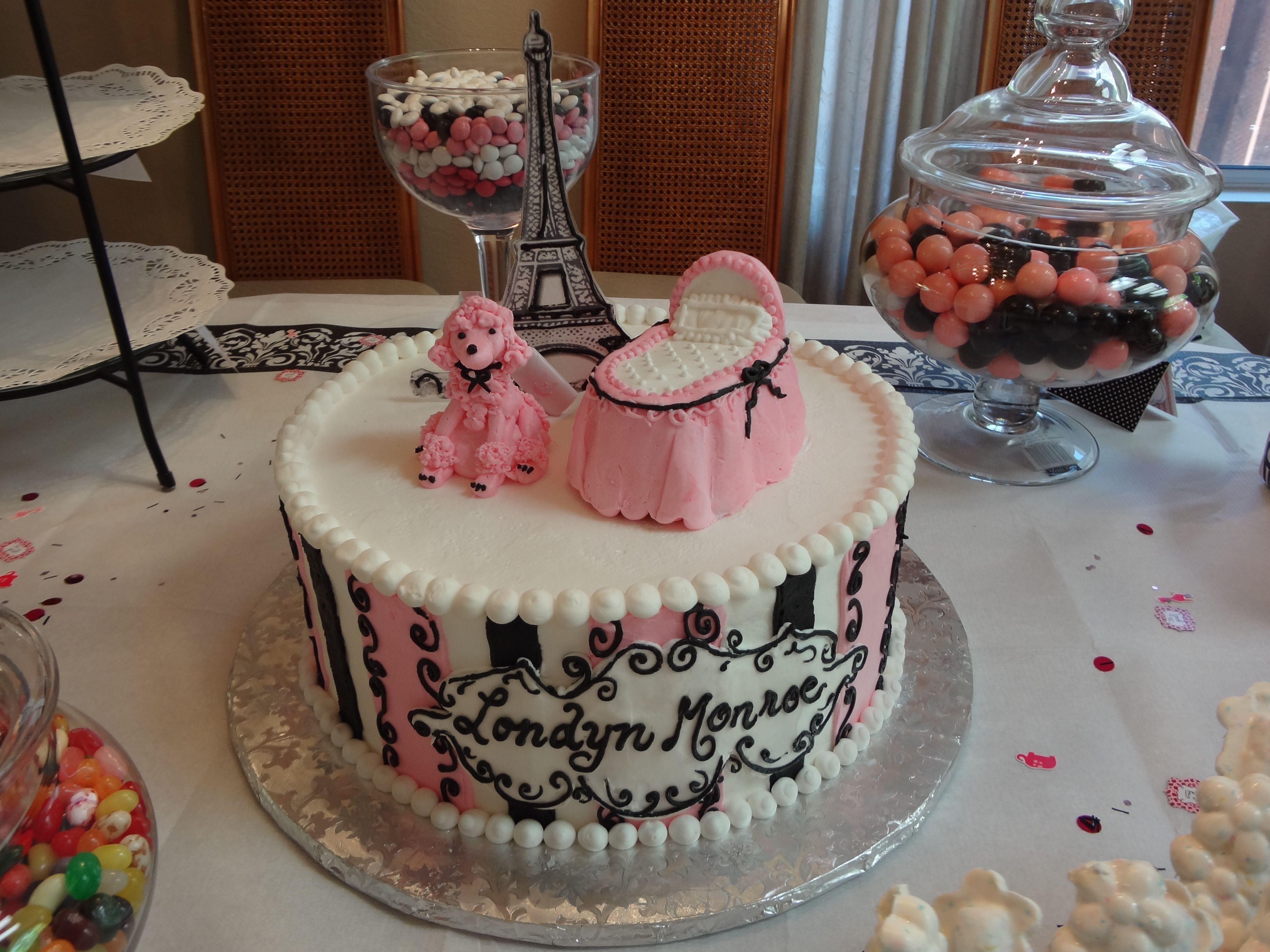 parisian theme baby shower cake cakes pinterest