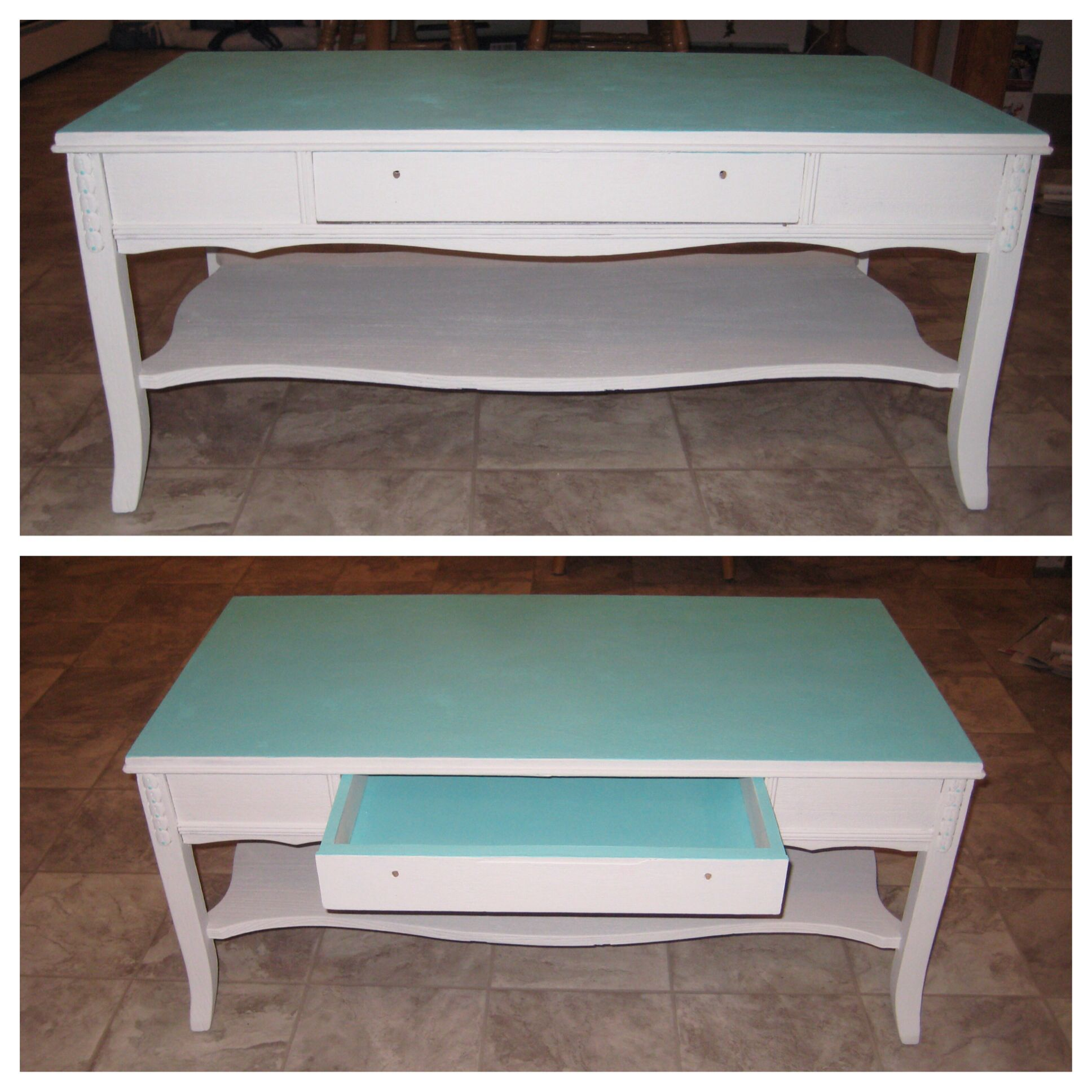 Painted coffee table painted furniture ideas pinterest for Coffee tables painted