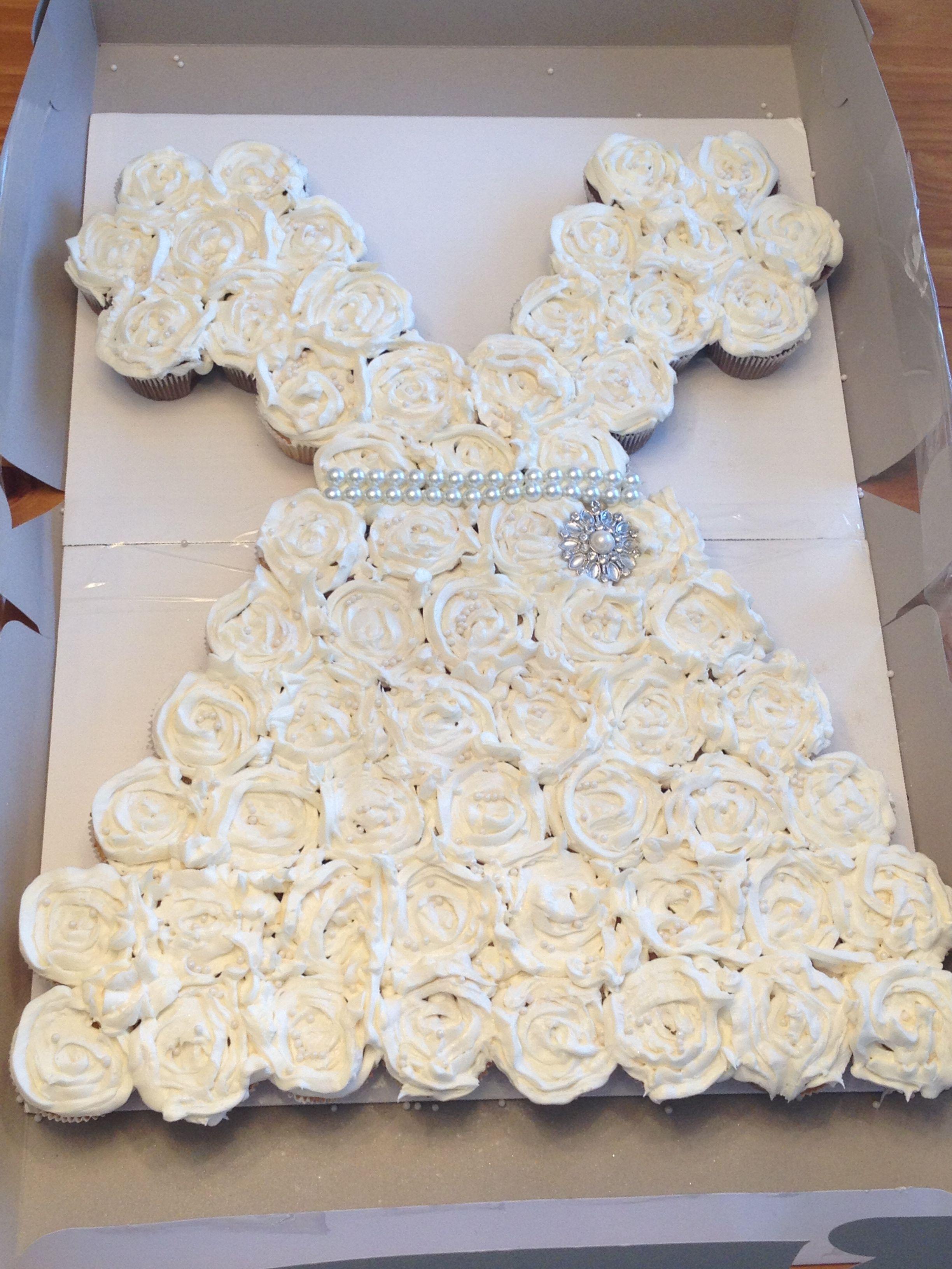 "Bridal Shower ""Wedding Dress"" Cupcakes Wedding"