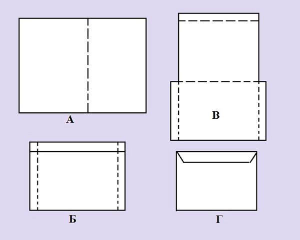 Как сделать конверт из прямоугольного к 300
