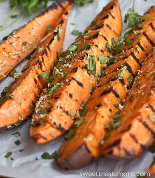 Grilled Cilantro-Lime Sweet Potatoes   Allergy Free Foods   Pinterest