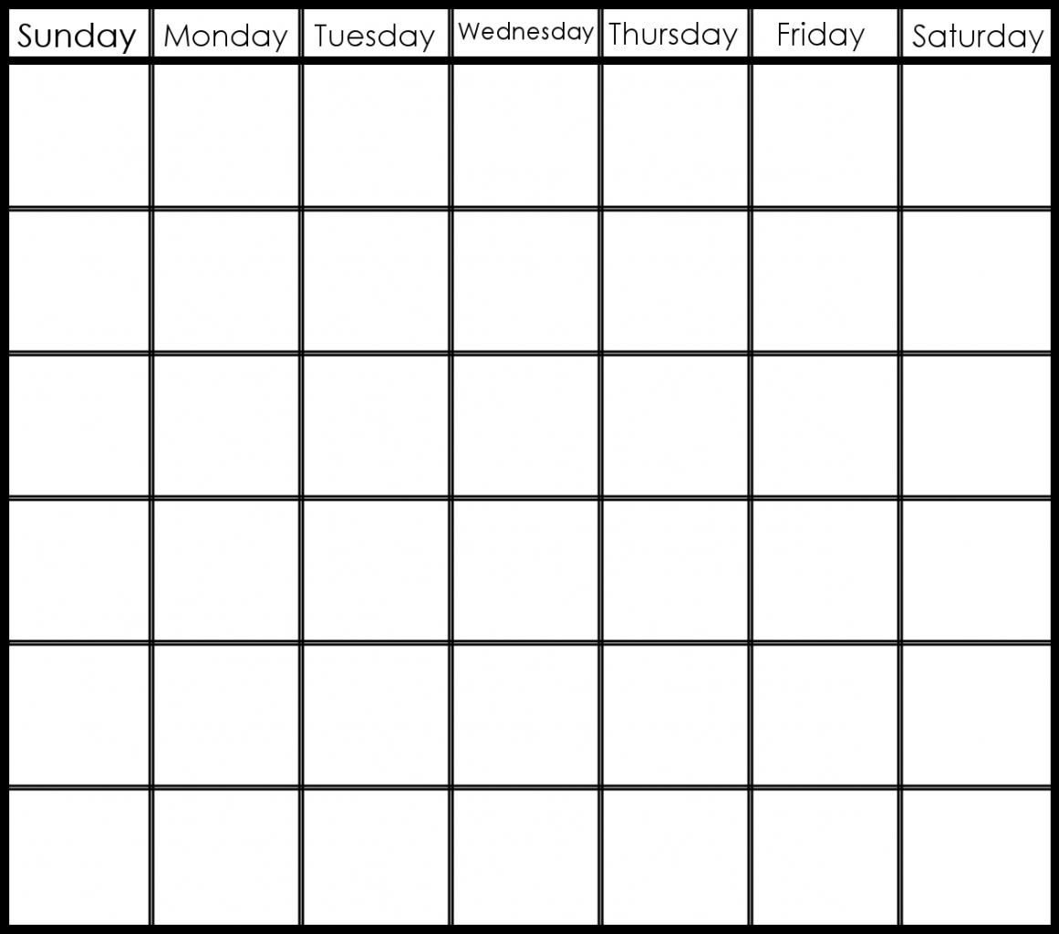 2 Week Blank Calendar Template Printable Editable Blank – Week Planner Template Word
