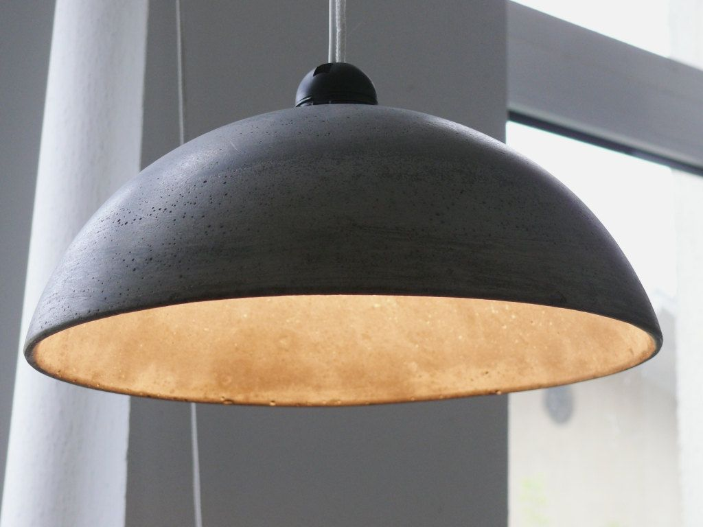 rounded concrete lamp shade lighting pinterest. Black Bedroom Furniture Sets. Home Design Ideas