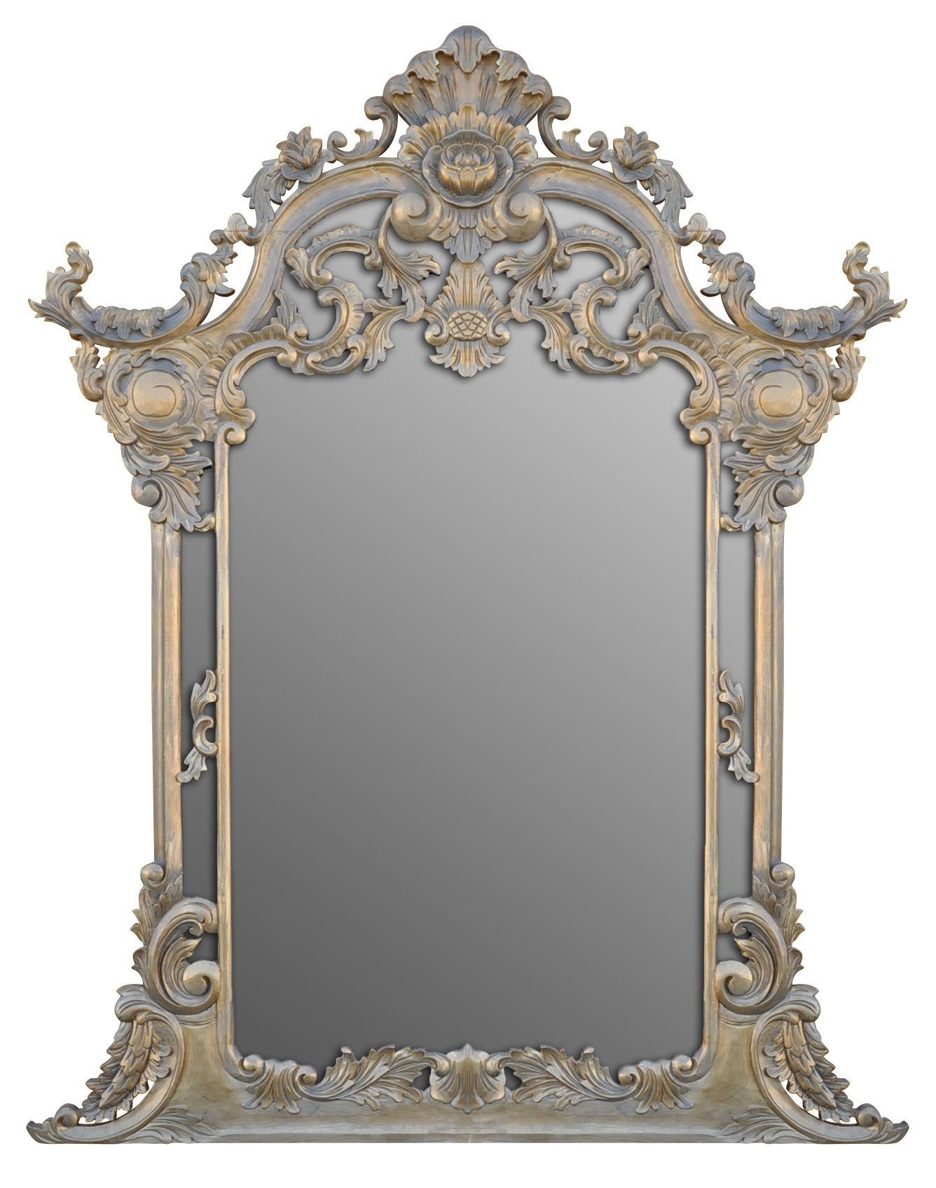 Antique frame mirror carved wood mirrors pinterest for Mirror frame