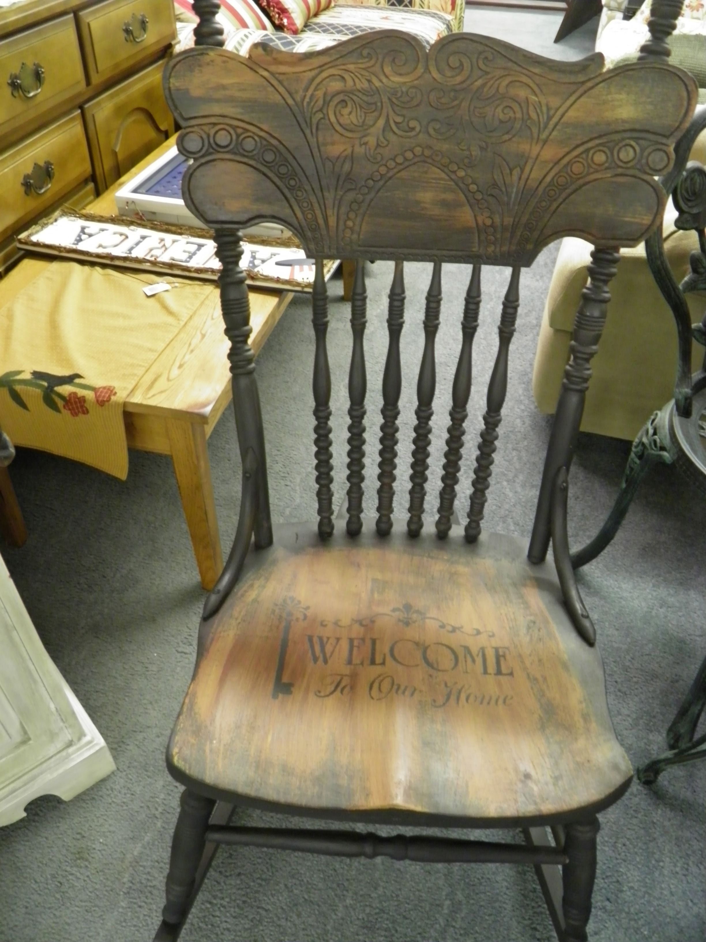 Amazing photo of Painted Rocking Chair crafts Pinterest with #8C7D3F color and 2448x3264 pixels