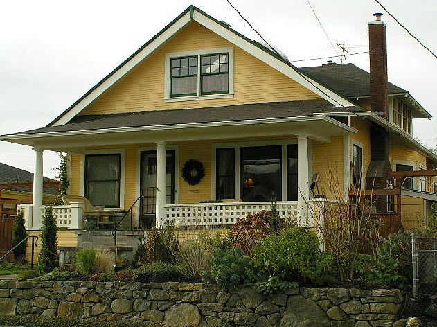 Exterior house paint ideas bungalow - Yellow Bungalow Exterior Bungalow Paint Colors Pinterest