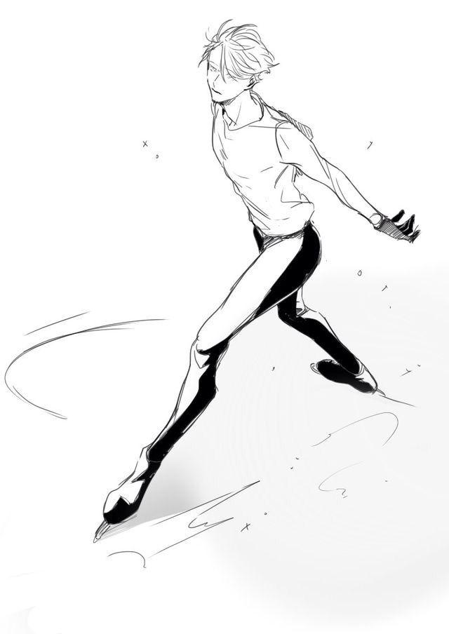Рисовать аниме юрий на льду
