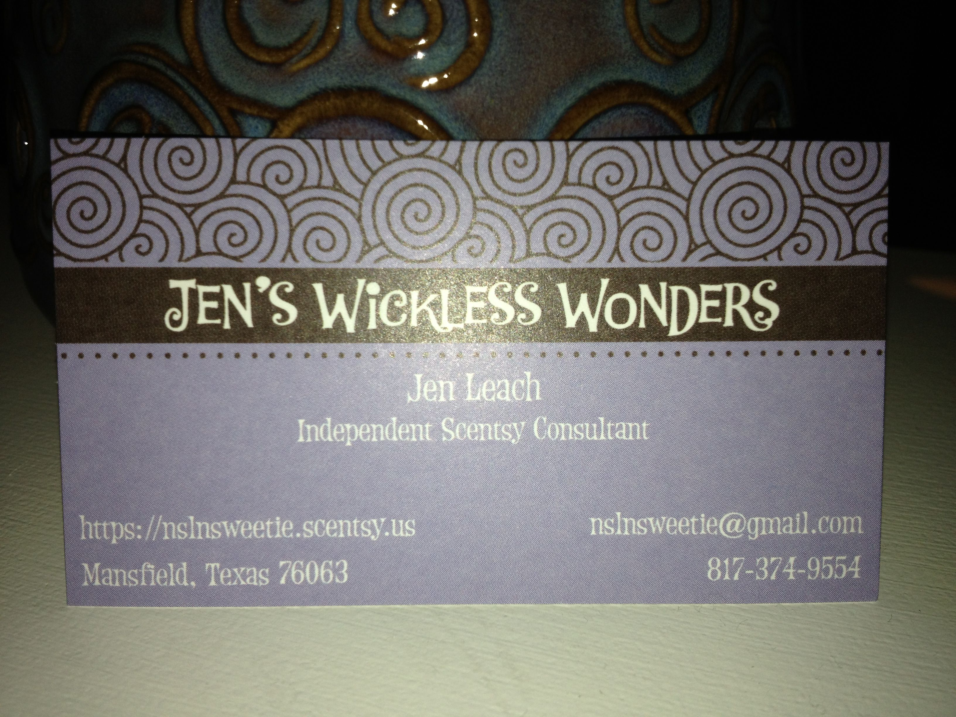 Scentsy business card ideas Scentsy ideas