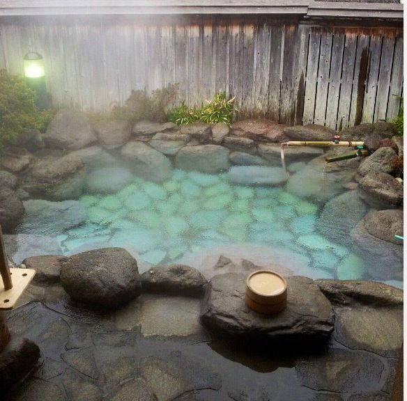 Natural style hot tub earth japan pinterest for Hot tub styles
