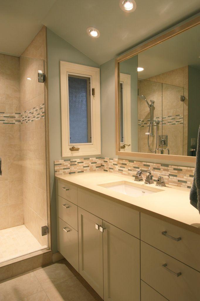 bathroom sink tile backsplash home bathrooms pinterest
